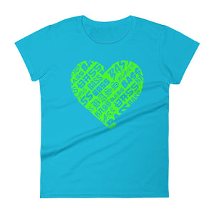 Women's Bassheart short sleeve t-shirt (Neon Green)