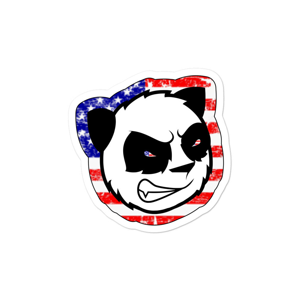Merica Angry Panda Die Cut Decals (MERICA EYES)