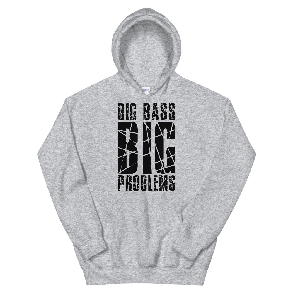 Big Bass Big Problems Hoodie (Black/White)