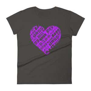 Women's Bassheart short sleeve t-shirt (Neon Purple)