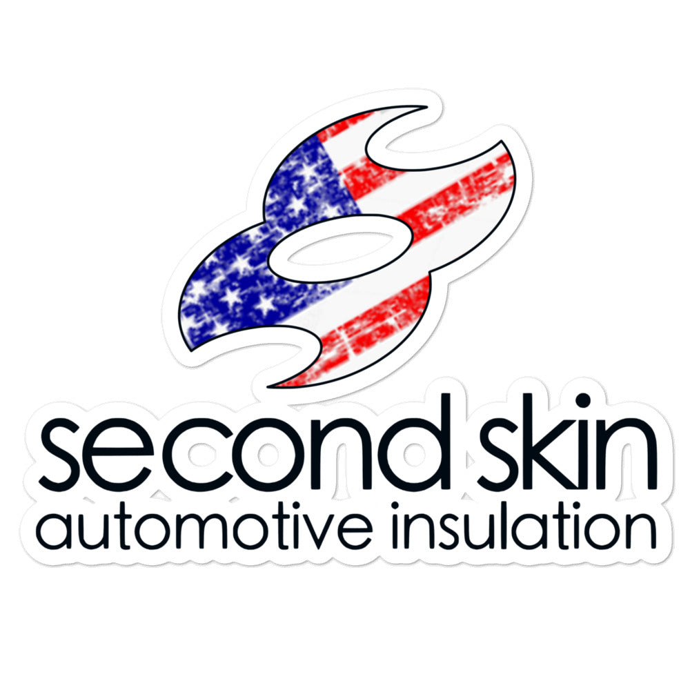 Second Skin Merica Weathered Logo Bubble-free stickers