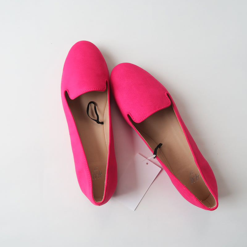 [SOLD OUT] - H&M Hot Pink Classic Ballet Flat Shoes Size U.S 7, EU 37
