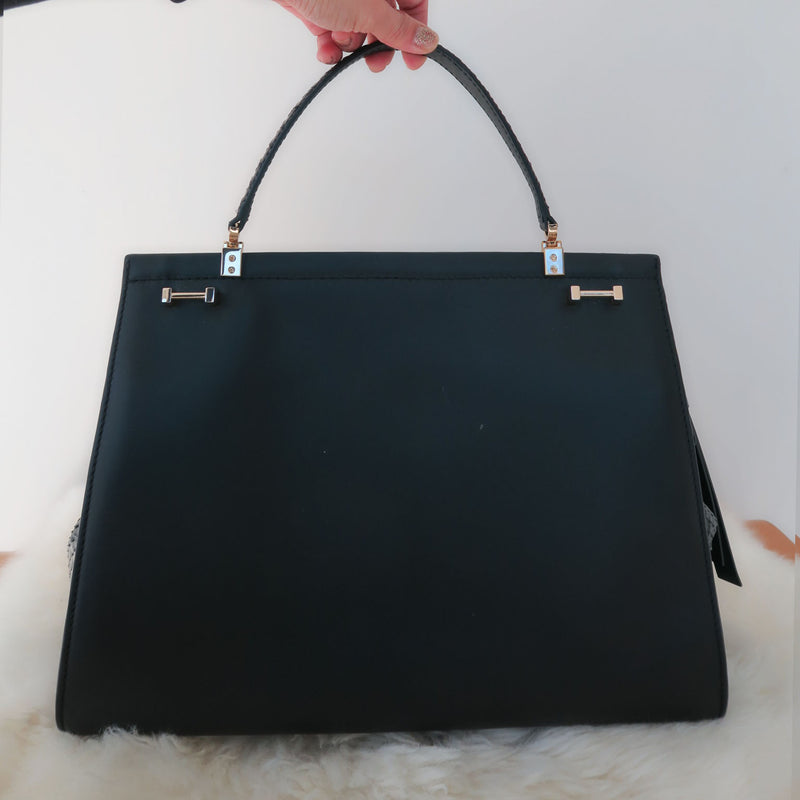 Kate Spade Black Soft White Shaw Street Kegan Limited Satchel Bag