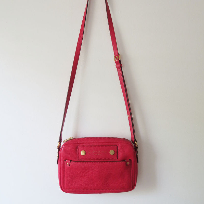 Marc By Marc Jacobs Super Red Camera Style Crossbody Bag