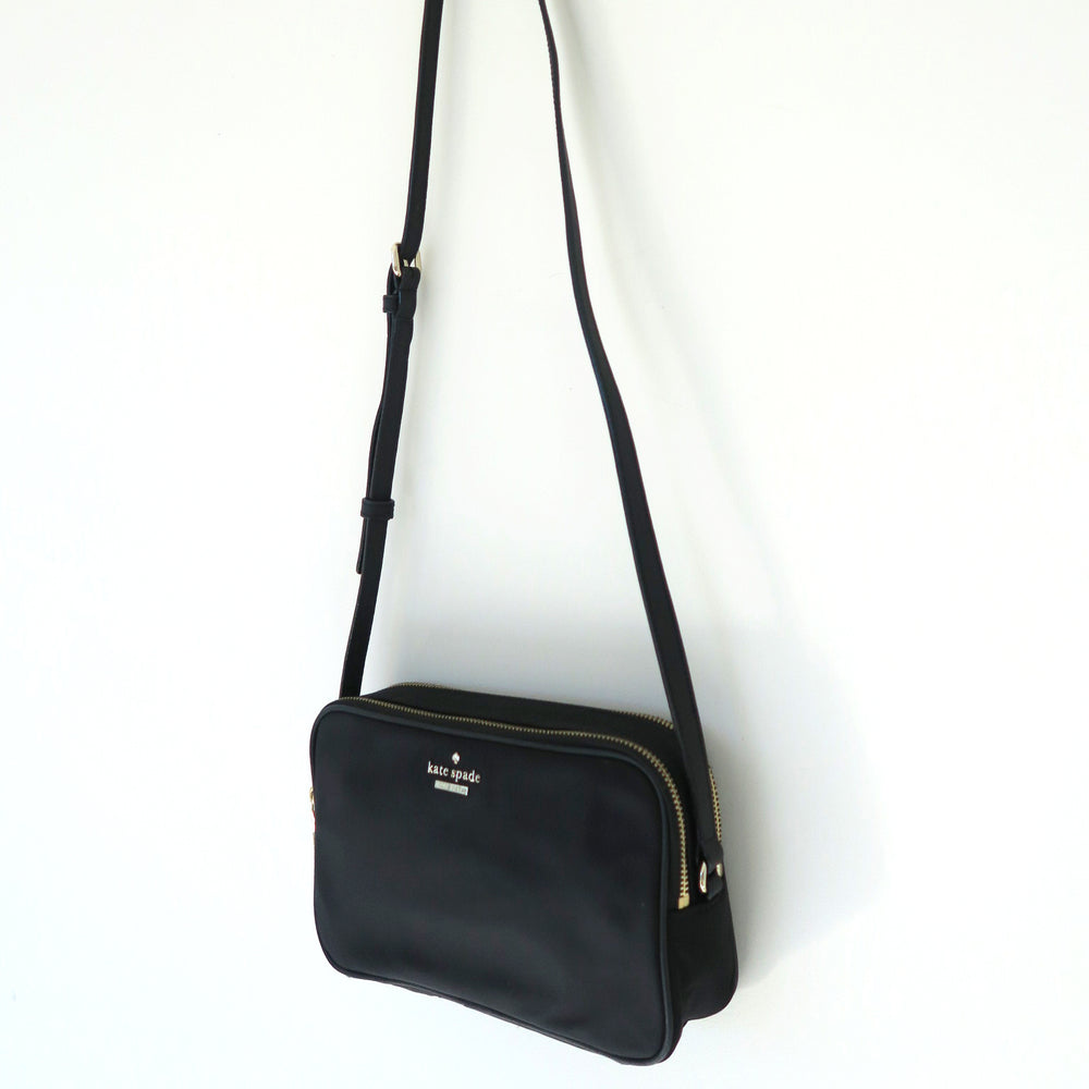 [SOLD OUT] - Kate Spade New York Black Gold Rectangle Small Crossbody Bag