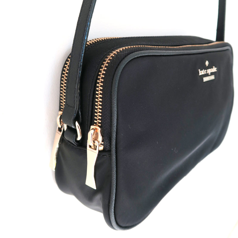 Kate Spade New York Black Gold Rectangle Small Crossbody Bag