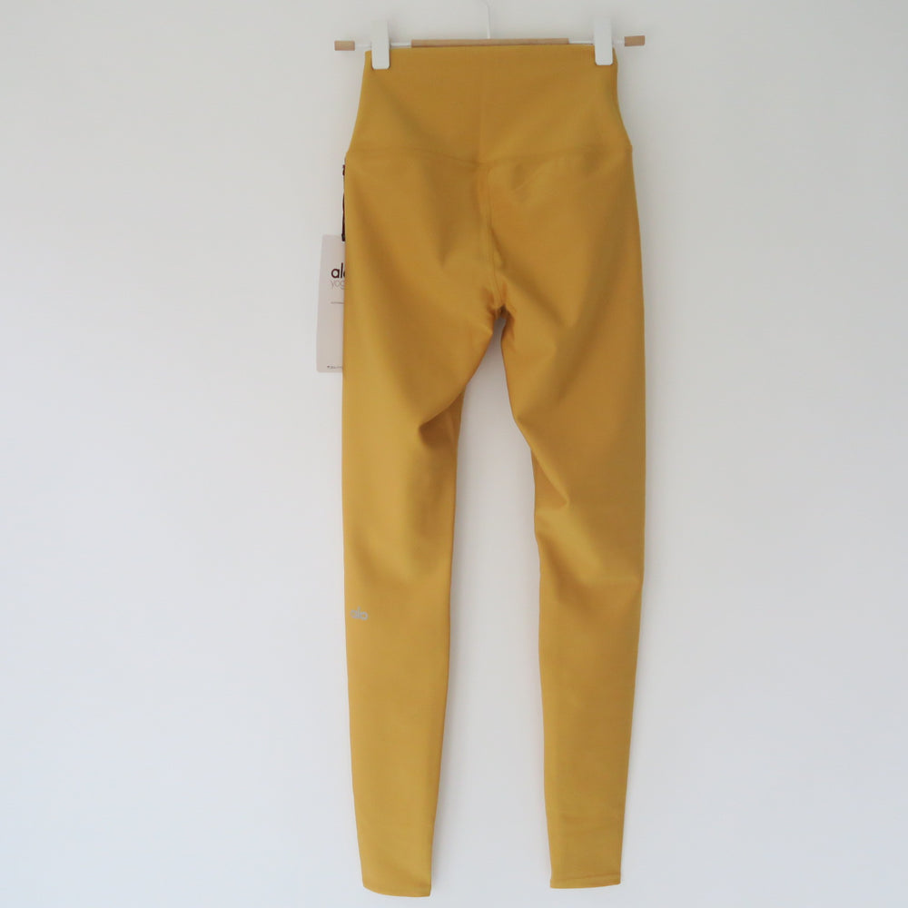 [SOLD OUT] - ALO Yoga HIGH WAIST Airlift Yellow Tuscan Sun WORKOUT YOGA LEGGING