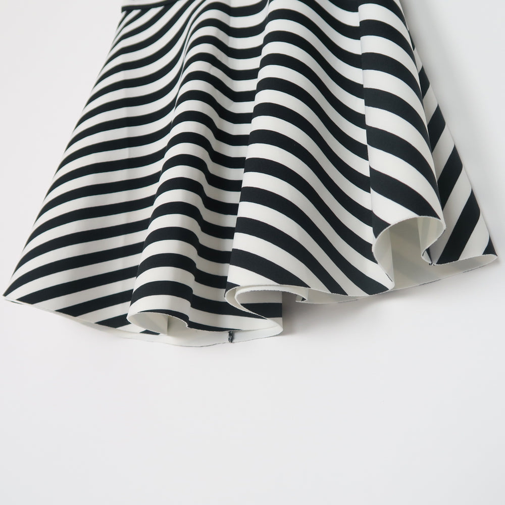 Abercrombie & Fitch Black & White STRIPED NEOPRENE A-LINE SKIRT Size S