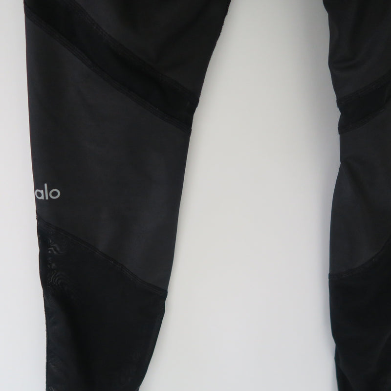 ALO Yoga Black / Sheer black SHEILA LEGGING WORKOUT PANTS Size XS