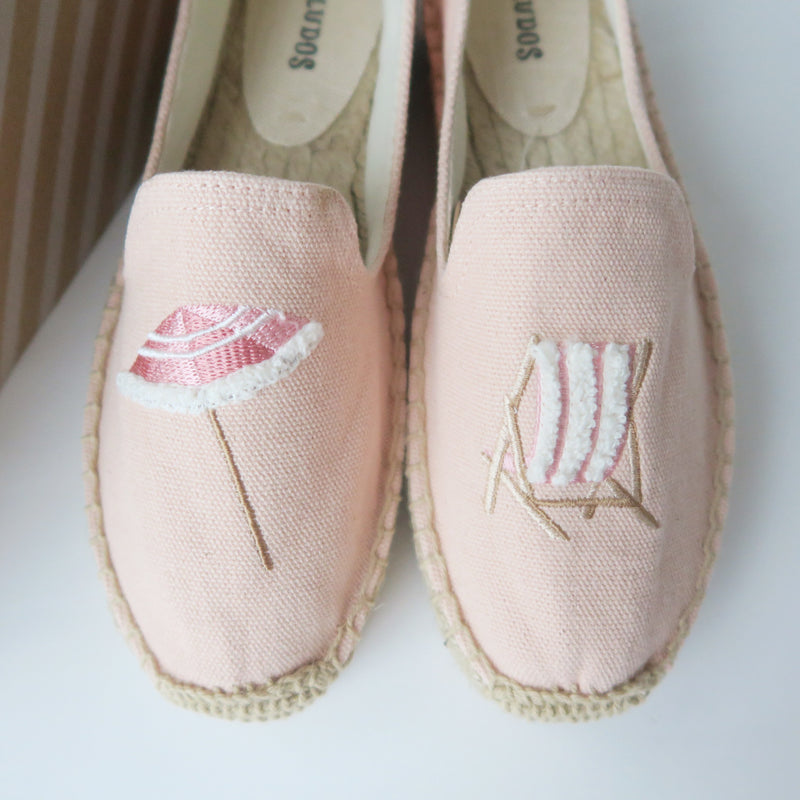 [SOLD OUT] - Soludos Peach Beach Day Smoking Slipper Espadrille Flat Shoes Size 6