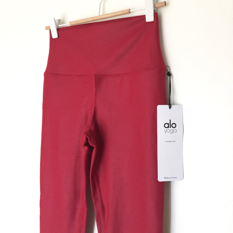 ALO Yoga Airbrush High-Waist Crimson Red Legging size XS, S