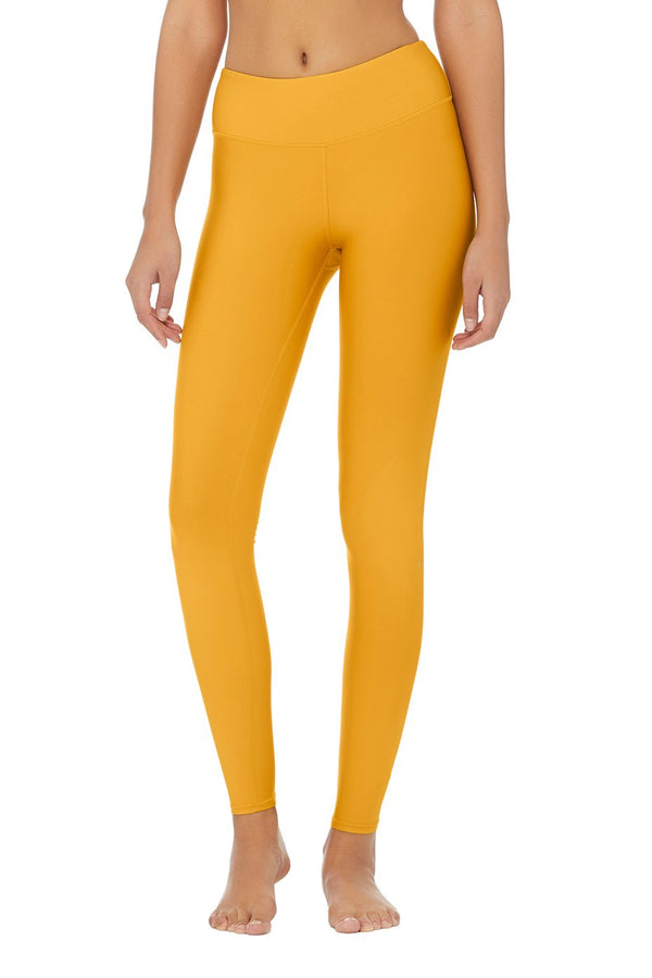 ALO Yoga HIGH WAIST Airlift Yellow Tuscan Sun WORKOUT YOGA LEGGING