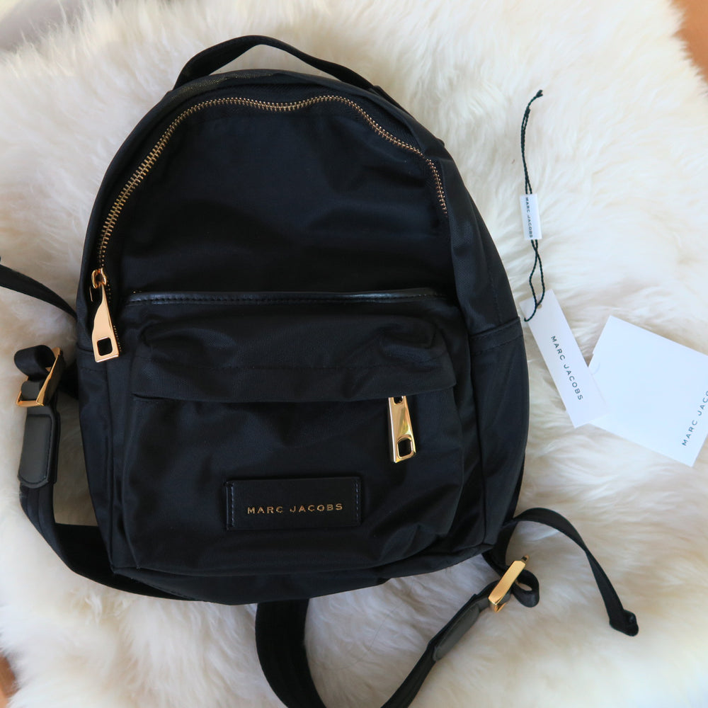[SOLD OUT] - Marc by Marc Jacobs - MJ Black Gold Mini Nylon Lightweight Minimal City Backpack