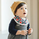New Arrival Girls Baby Kids Triangle Bibs Infant Cotton Toddler Feeding Saliva Towel