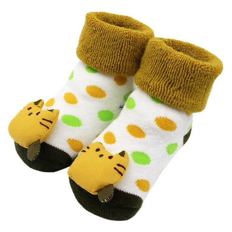 Cartoon Newborn Baby Girls Boys Anti-Slip Socks Slipper Shoes