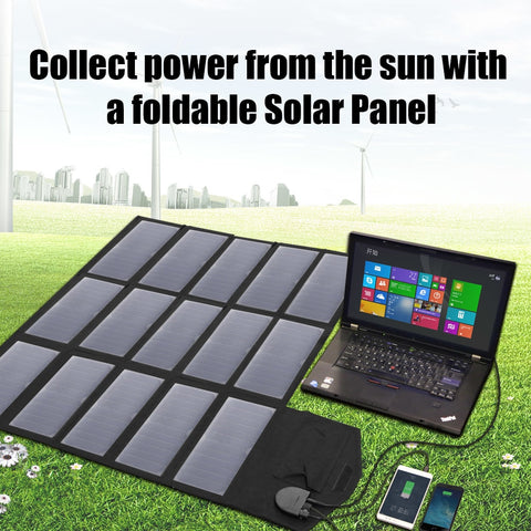 Portable Solar Panel Charger 100W 18V 12v Foldable Battery for iPhone Laptop Cellphones