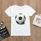 Baby shirt Children Infant Kid Girls Boys Football Soccer Print Casual T-shirt