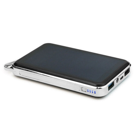 Solar Power Bank 15000mAh Dual USB Portable Panel for iPhone iPad Samsung Smart Phones Outdoors
