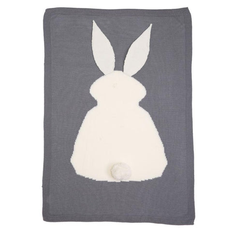 Baby blankets newborn  Rabbit Knitting Bedding Quilt For Bed Sofa Wool