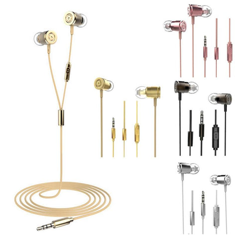 3.5mm With Microphone Bass Stereo In-Ear Earphones Headphones Headset Earbuds without Mic