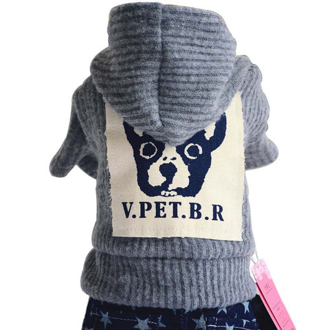 Winter Thick Pet dog Sweater Coat With Hat Knitwear Puppy Hoodie
