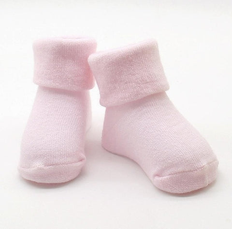 Baby Kids Girls Comfortable Solid Cute Cotton Sock Slippers