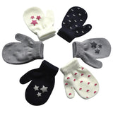 Infant Baby Cute Star Print Hot Girls Boys Of Winter Warm Gloves mittens