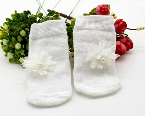 Baby Kids Girls Comfortable Floral Cute Cotton  Slippers Warm Ankle