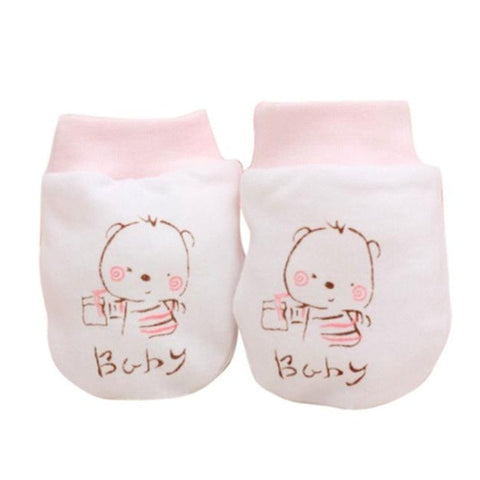 New Baby Gloves 1 Pairs Cute Cartoon Baby Infant Boys Girls Anti Scratch Mittens