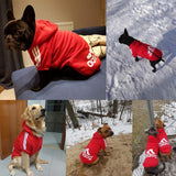 Pet Dog Clothes For Large Dogs French Bulldog Dog Hoodies Winter Clothes For Small Dogs Poodle Pug Pet Clothing Christmas GGA018
