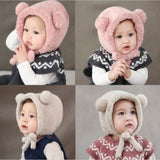 Baby Kids Autumn Winter Warm Cotton Beanie Hat Toddler Girls Boys Caps