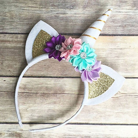 Decorative Flowers Hairband Hair Head Hoop Gifts Accessories For Girls Children