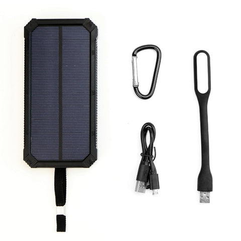 Portable Solar Charger 15000mAh Bank with LED Lamp for iPhone