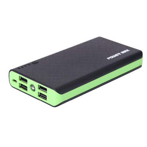 4 USB 500000mAh Power Bank LED External Backup Battery Charger Powerbank For Phone