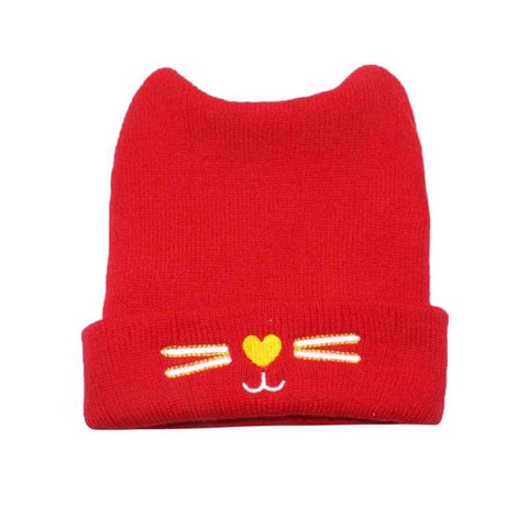 Fashion Warm Baby Hats Cute Cat Ear Newborn Knitted Beanie