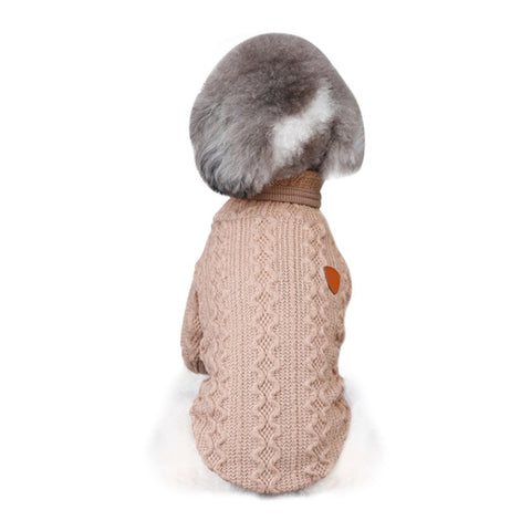 Pet Sweater Breathable Corrugated High Collar Wool Bottoming Shirt