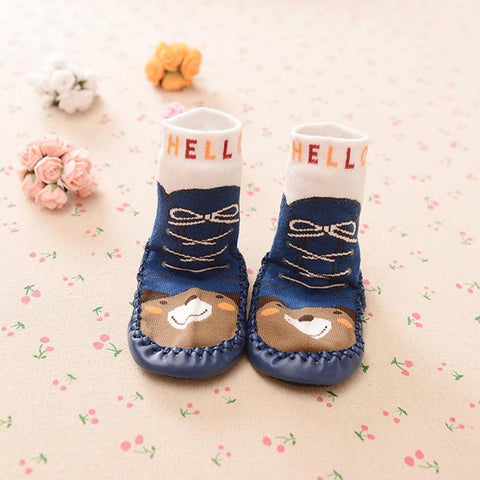 Cartoon Anti-slip Sock Shoes Boots Slipper Socks for Kids