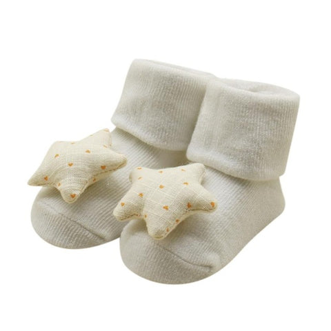 Baby Kids Unisex Comfortable Star Cute Cotton Sock Slippers