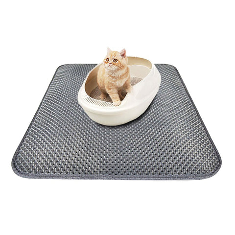 4 Size MatDouble-Layer Cat Litter Trapper Mats with Waterproof Bottom Layer