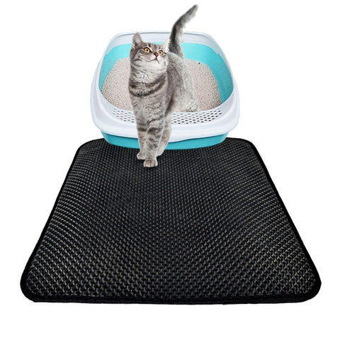 EVA Double-Layer Cat Litter Mat Trapper with Waterproof Bottom Layer