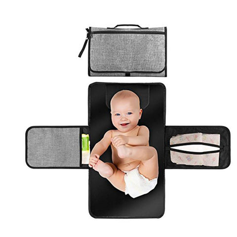 Portable Foldable Nappy Mat Waterproof  Diaper Baby Changing Kit