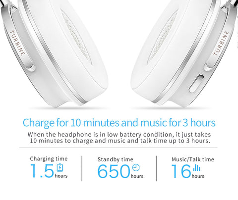 Active Noise Cancelling Wireless Bluetooth Headphones with microphone for phones