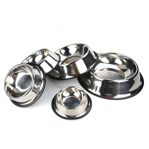 Pet Dog Stainless Steel Durable Food Water Bowls Durable Feeding