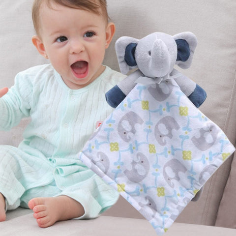 Newborn Soft Baby Teddy Bear Puppet Toy Gift Snuggle  Comforter Blanket