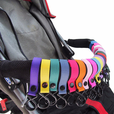 5pcs Multi Purpose Baby Stroller Pram Pushchair Shopping Bag Handbag Hook Clip Carrier