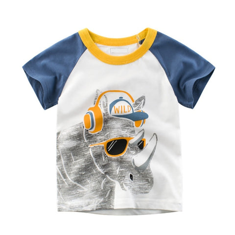 Summer Cartoon Baby Boys Girls T-Shirt For infant Kids