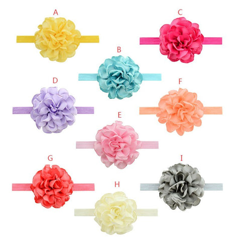 Baby Headband Bow For Girl Flower Hairbands Kids Turbans