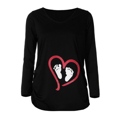 Maternity clothes long sleeve tshirt Casual For Pregnant Women T-Shirt