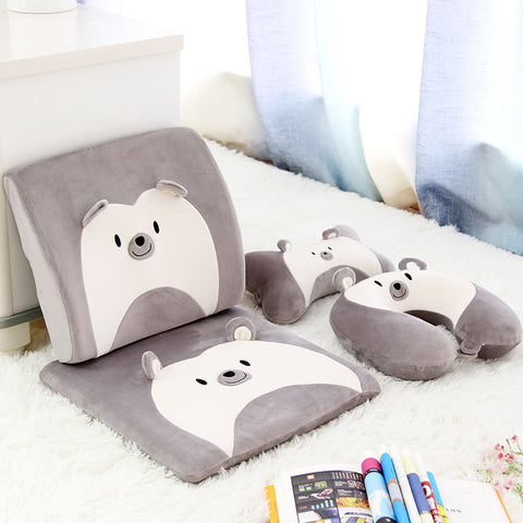 Cartoon Animal U-shaped Plush Pillow Travel Neck Rest Pillow Pig Cushion