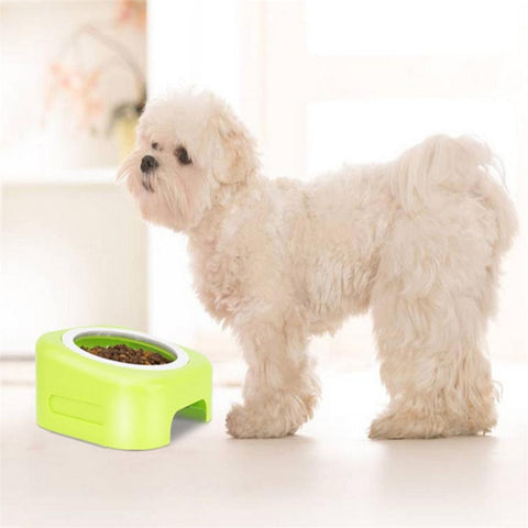 New 1pc Pet Cat Puppy Plastic Food Feeding Water Drinking Bowl